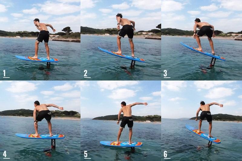 Surf foil:Come entrare in acqua